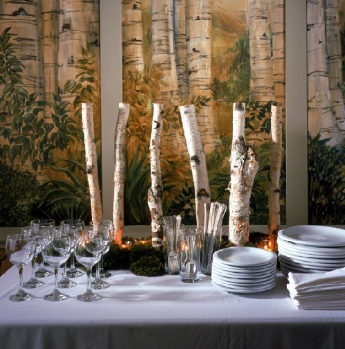 birch branches for decoration,